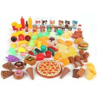 Play Food Set for Kids & Toy Food for Pretend Play - 125 Piece Play Kitchen Set