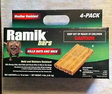 Ramik/Rodentex bars qty 4(four)1lb kill rats mice rodents WEATHER RESISTANT NEW