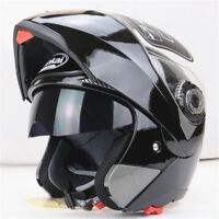 UK Crash Helmet Motorcycle Motorbike Full Face Inner Dual Visor Normal Flip Up