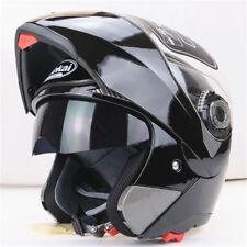 UK Crash Helmet Motorcycle Motorbike Full Face Inner Dual Visor Normal Flip Up