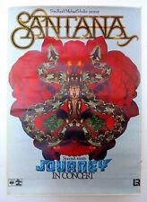 SANTANA – AFFICHE ORIGINALE DE CONCERT – CBS - TRÈS RARE - 1976