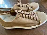 Mens Vince Camuto Tan Suede Leather Lace Up Sneakers Casual Shoes US 10M, New