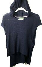 Eddie Bauer Girl Uniform School Sweater Hoodie Navy Pullover Sleeveless Sz 10/12