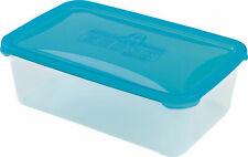 (High Quality) - Rectangle Shape Food Container - (4 Liters) - Blue Lid