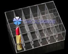 Organizador de Lápiz Labial para 24 Rejillas Lápiz Labial Cosméticos Expositor