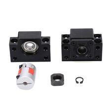 SFU1605 BK12 BF12 Ball Screw Support 45 Steel w/ Coupler+Lock Nuts Clasped