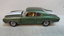 ACME: 1:18 1970 Chevelle 454 LS6 PILOT CAR IN GREEN WITH WHITE STRIPES-CASE NEW!