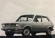 Rare Dossier De Presse 1977 FIAT 127 !!!