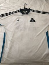 Authentic Adidas X Palace Jersey Ssl Team Shirt White Bold/ Aqua Worn Once ‼�‼�