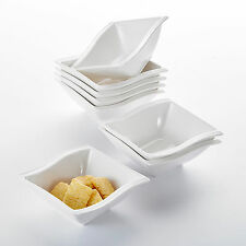 MALACASA FLORA Ceramic Dinner Set Porcelain Home Kitchen Dinnerware Plate Ivory