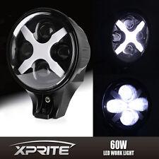 "Xprite 6"" 60W Round White LED Fog Spot Light X DRL Turn Signal Reverse Offroad"