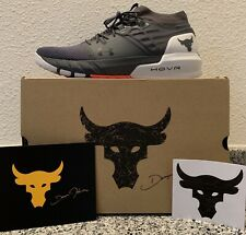 NEW - 10.5 - Under Armour Project Rock 2 Shoes - Pitch Gray
