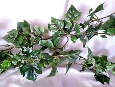 9' Mini English Ivy Garland holiday/green with wired branches