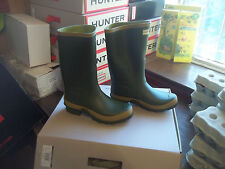 Hunter Wellingtons en Halifax Size UK 5 EU 38 jardinero Boot Corto Pierna Ancha