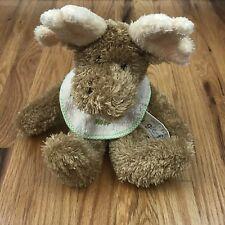 Boyds Mazey Moose Plush Moof Bib Huggle Fluff Collection Uncle Bean Lovey Rattle