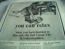 ephemera 1969 leicester advert dine out the ind coope way grand hotel rothley co