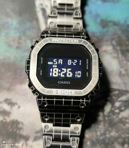 CASIO G-Shock Full Metal Square DW-5600-BB TRON Mod