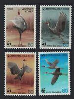 Korea White-naped Crane Birds WWF 4v MNH SG#1829-1832 MI#1553-1556 SC#1508 a-d