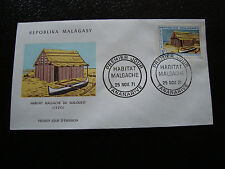 MADAGASCAR - enveloppe 25/11/71 - habitat sud-ouest vezo - yt n° 493 -(cy4)(A