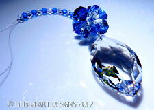 m/w SWAROVSKI Marquise CATS EYE 2 BLUES OCTAGONS Sun Catcher Lilli Heart Designs