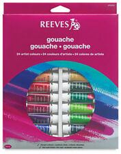 Reeves Artist Gouache 24 x 10ml Paint Tube Box Set. Perfect Introductory Set