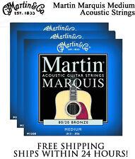 ** 3 SETS - MARTIN MARQUIS M1200 ACOUSTIC GUITAR STRINGS MEDIUM 80/20 BRONZE**