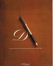 PUBLICITE   1975   DUPONT  stylo plume  préface A. GIDE