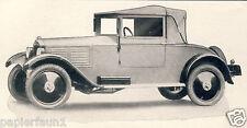DKW Cabriolet Reklame von 1929 Zschopau Rasmussen Motorenwerke Oldtimer Car Ad