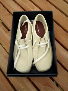 Clarks Originals Wallabee Mens UK 8 D Maple Suede Moccasin Smart Casual Shoes