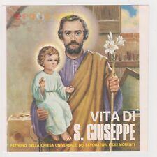 """45 giri 7"""" - VITA DI SAN GIUSEPPE Patrono della chiesa universale... - USATO EV"""