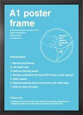 A1 Wooden Picture / Poster Frame Black Silver Beech Oak White Walnut 59.4x84.1cm