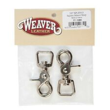 """Weaver Square Scissor Snaps Bagged 5/8"""" Quantity of 2 Nickel Plated"""
