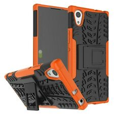 Etui Hybride 2 pièces Extérieur Oraange Housse Étui pour Sony Xperia XA1 coque