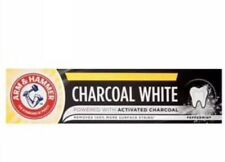 3x NEW ARM & HAMMER CHARCOAL WHITE. TOOTHPASTE 75 ml