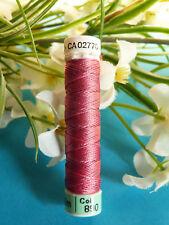"673b / Superb Coil Drawstring Silk Gutermann "" Pink Crimsin "" No. 890"