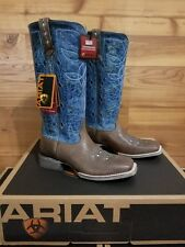 ARIAT NEW SQUARE TOE RANCH LUXE BOOTS SIZE 10 M WOMEN'S