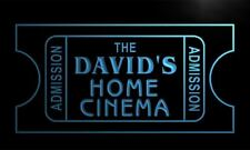 x0006-tm The David's Home Cinema Ticket Custom Personalized Name Neon Sign