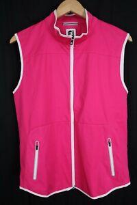 NWOT Footjoy Golf Women's sz Large Softshell Vest Hot Pink 24972