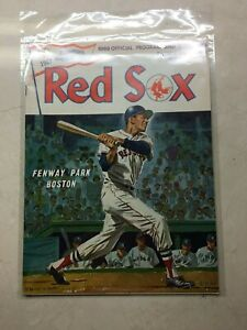 MICKEY MANTLE LAST GAME YANKEES @ RED SOX PROGRAM SEPT 28 1968  NEAR MINT!