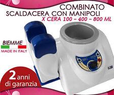 SCALDACERA COMBINATO CERA 400-800ML+2MANIPOLI MADE IN ITALY GARANZI 2ANNI