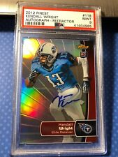 2012 Topps Finest Kendall Wright #/20 Refractor AUTO Autograph 118 RC PSA 9 Mint