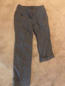 The North Face Womens Pants Sz 0 Horizon Tempest Roll Up Nylon Hike ARRD Gray