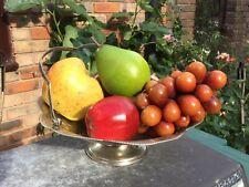 Vintage Retro Rustic Wooden Bowl & Artificial Fruit  Set - Shabby Chic Display