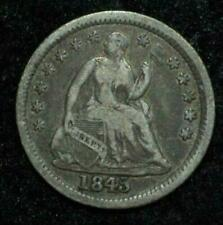 1845 ~ H10c Seated Liberty Half Dime ~ Tough Date-------Nice Coin!!!