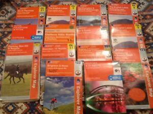 Ordnance Survey OS Explorer Maps. PRICE IS EACH..Read Description Before Buying