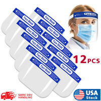 12Pack Safety Full Face Shield Reusable Protection Cover Face Eye Cashier Helmet
