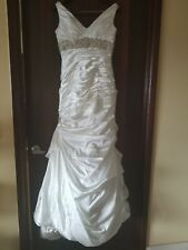 Maggie Sattoro Sattoro & Midgely Adorae Ivory Satin Wedding Gown Size 12