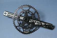 Rotor 3D Oval 50/34 175mm Road Bike Crankset Black