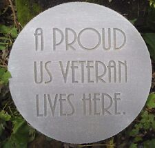 "Veteran plaque mold 10"" x .75"" thick plastic mold for plaster concrete casting"