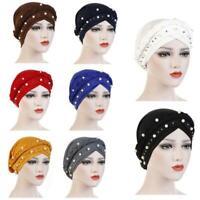 Women Hair Loss Beanies Head Wraps Scarf Cancer Chemo Hats Muslim Turban Caps